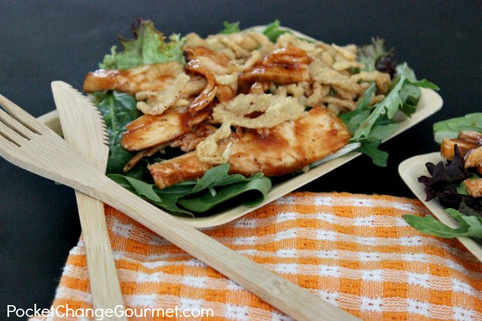 Easy Barbecue-Chicken-Salad. | Recipe on PocketChangeGourmet.com