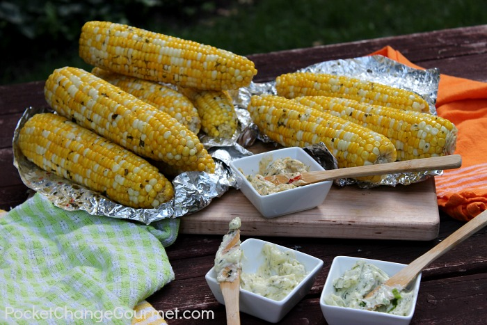 Corn on the Cob with Herb Butter :: Recipes on PocketChangeGourmet.com