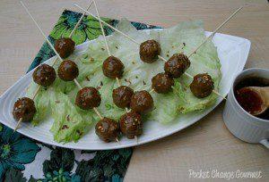 Asian Meatballs: Food on a Stick