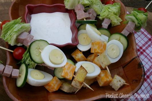 Chef Salad On-a-Stick