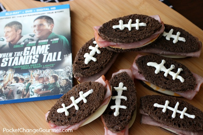 Football Sandwiches for Movie Night