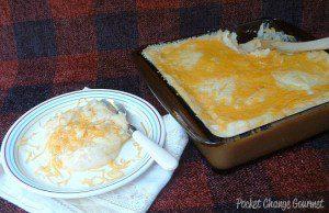 Cheesy Mashed Potato Casserole and Weekly Menu Plan