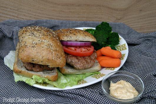 Pork Burgers Pocket Change Gourmet