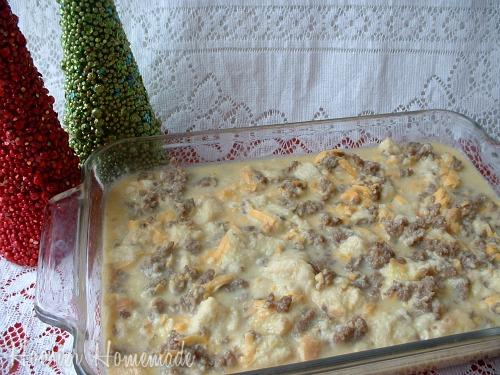 pair the sausage casserole - Christmas Casserole Recipes