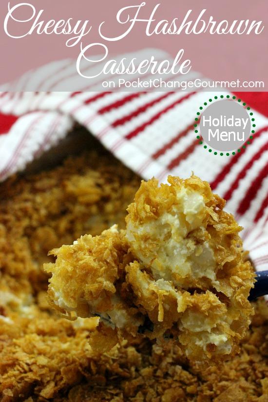 Cheesy Hashbrown Potato Casserole | Recipe on PocketChangeGourmet.com