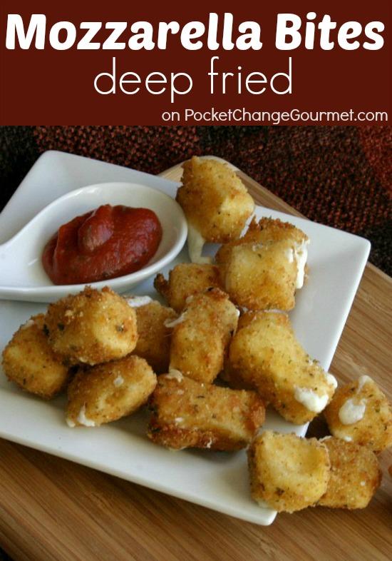 Deep Fried Mozzarella Bites | Recipe on PocketChangeGourmet.com