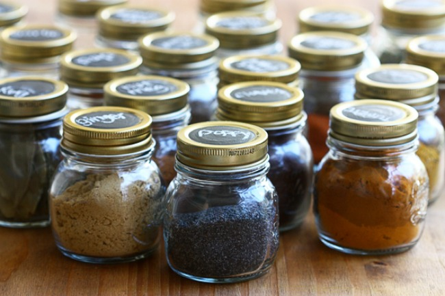 Organized Spice Jars