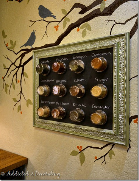 Framed Magnetic Spice Rack