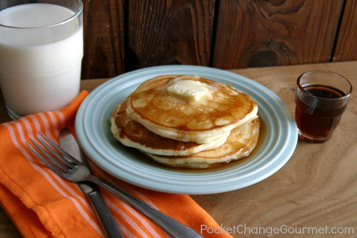 Old Fashioned Homemade Pancakes :: Recipe on PocketChangeGourmet.com - old fashioned pancakes