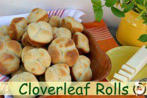 Cloverleaf Rolls for Easter Dinner