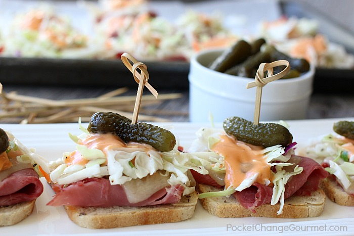 MINI REUBEN APPETIZERS | St. Patrick's Day Recipe and beyond