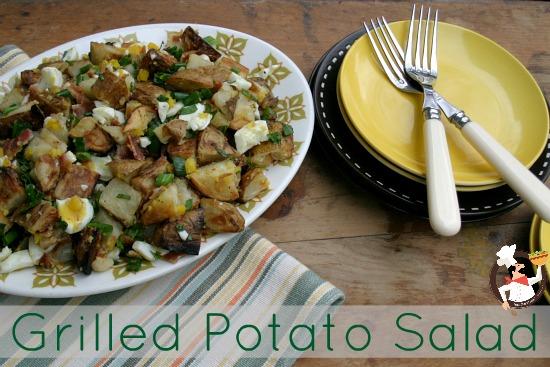 Grilled Potato Salad and Weekly Menu Plan   Pocket Change Gourmet