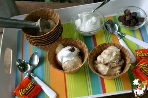 Homemade Peanut Butter Cup Ice Cream