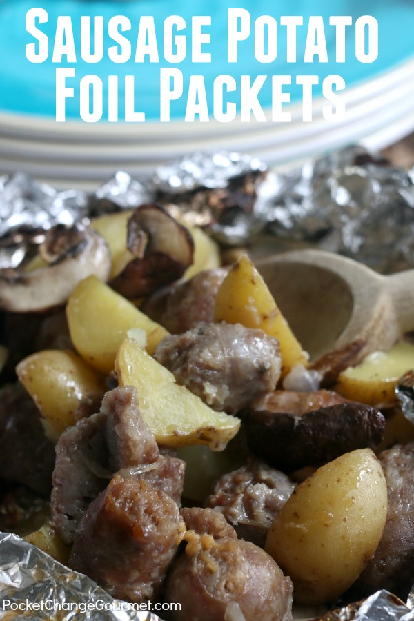 With just a few simple ingredients you can toss together these Sausage Potato Foil Packets! They are perfect for camping or even grilling a quick weeknight meal!