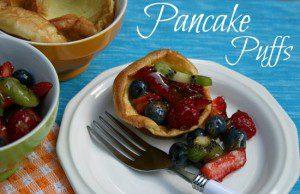Pancake Puffs with Fruit