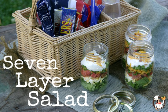 So Many Ways To Go Green Even The Kitchen Island: Fourth Of July Salads: Seven Layer Salad