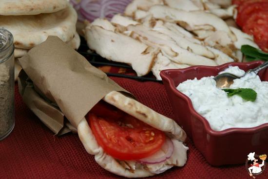Chicken Gyros with Fresh Tzatziki