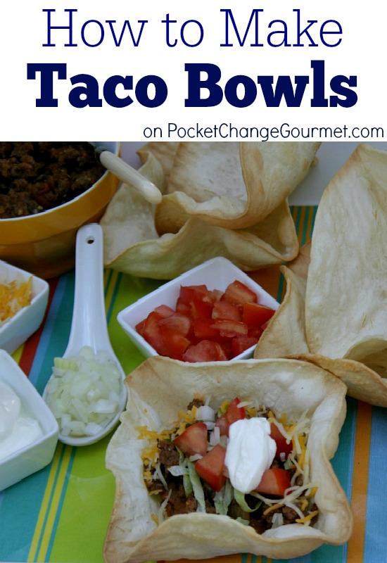 How to Make Taco Bowls | Instructions on PocketChangeGourmet.com