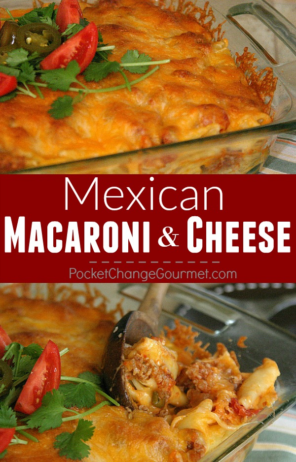 With simple ingredients and less than 30 minutes - you can have this delicious Make Ahead Meal. Mexican Macaroni and Cheese brings together the best of both worlds - Mexican flavoring and Mac & Cheese - everyone's favorite!