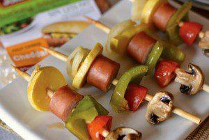 Turkey Cheddar Sausage Kabobs