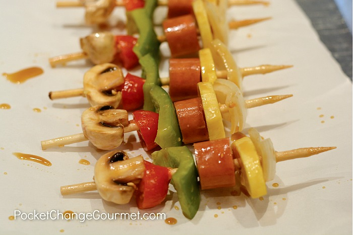 Turkey-Cheddar-Sausage Kabobs