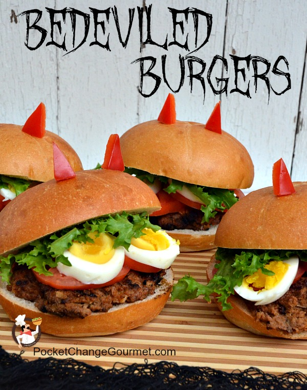 Halloween Hamburgers.Halloween Food Bedeviled Burgers Pocket Change Gourmet