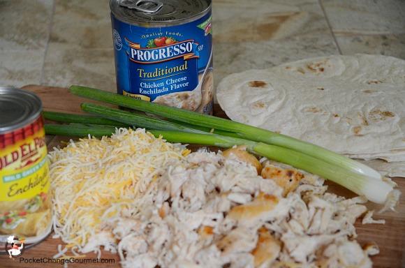 Chicken Enchilada Pockets Recipe — Dishmaps