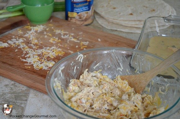 Quick and Easy Cheesy Chicken Enchiladas   Pocket Change ...