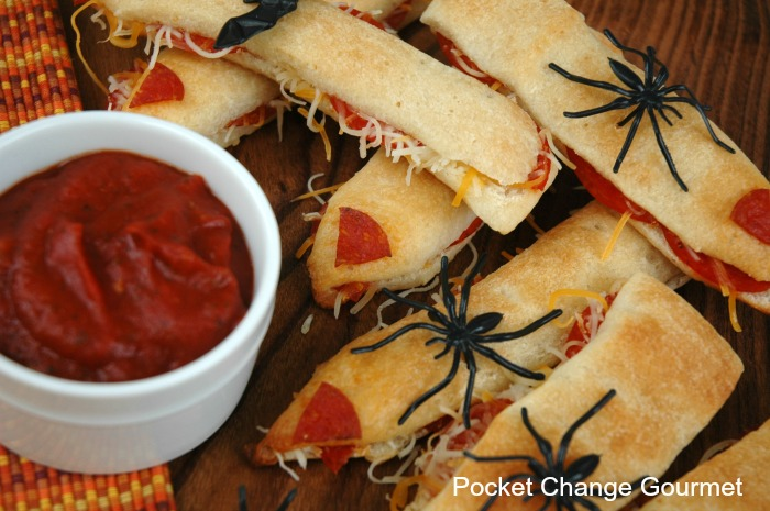 Fun Halloween Food Ideas Spooky Witches Fingers with dipping sauce