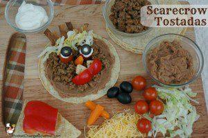 Halloween Food: Scarecrow Tostadas
