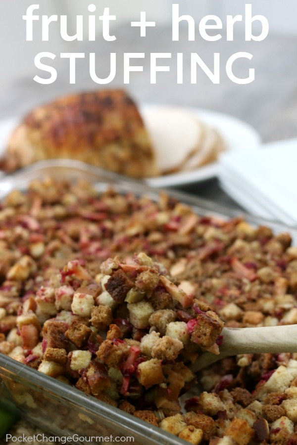 STUFFING RECIPE -- Fresh fruit and herbs fill these ordinary stuffing recipe with LOTS of flavor!