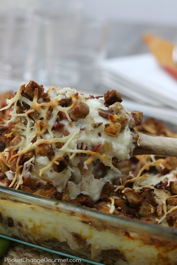 Leftover Turkey? Use up ALL your Thanksgiving leftovers with this delicious Turkey Casserole!