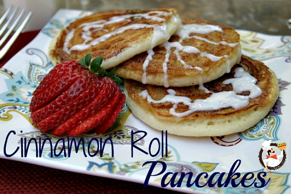 Cinnamon Roll Pancakes Recipes :: PocketChangeGourmet.com - old fashioned pancakes