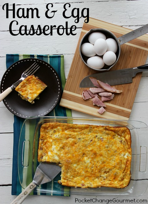 Ham and Egg Casserole Recipe :: PocketChangeGourmet.com