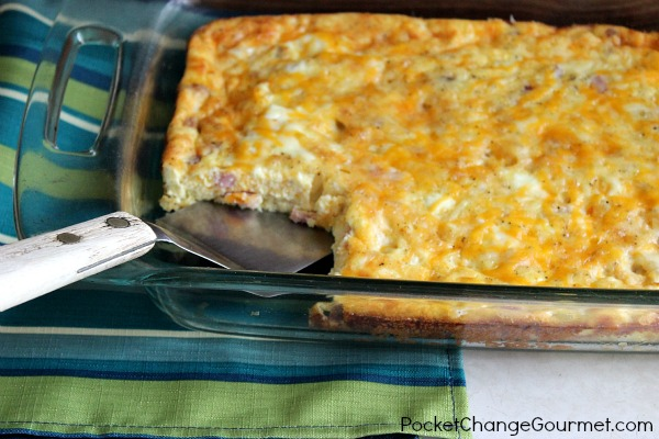 Ham and Egg Casserole | Pocket Change Gourmet