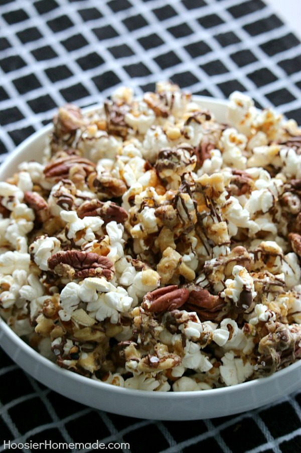 Chocolate Caramel Nut Popcorn