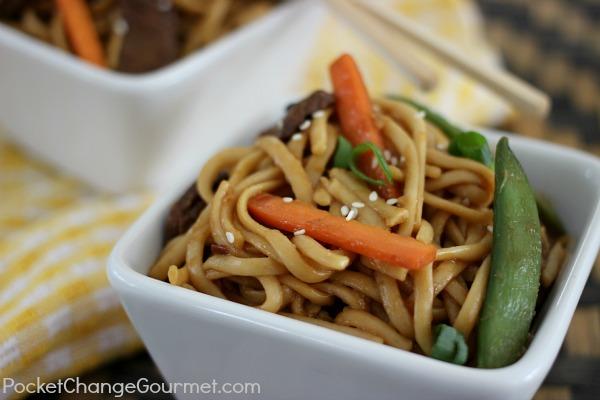 Teriyaki Beef Noodle Bowl | Pocket Change Gourmet