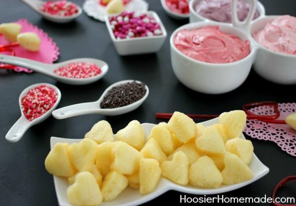 Valentine's Day Cupcake Fondue