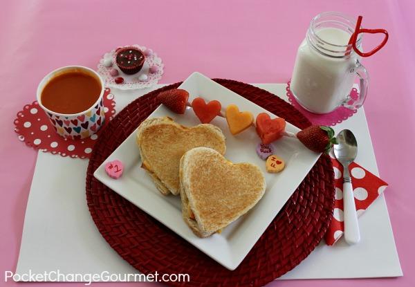 Elegant Valentineu0027s Day Lunch