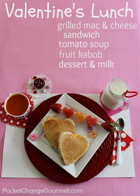 Kid's Valentine Lunch: Grilled Mac & Cheese Sandwich Recipe :: PocketChangeGourmet.com
