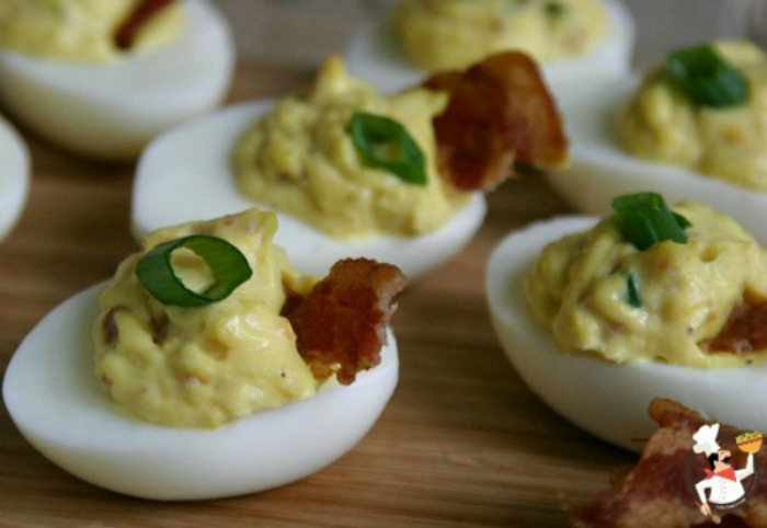 Bacon cheese deviled eggs recipe pocket change gourmet - Better homes and gardens deviled eggs ...