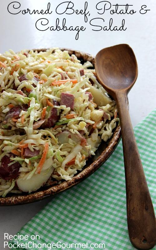 Corned Beef, Potato and Cabbage Salad :: Recipe on PocketChangeGourmet ...