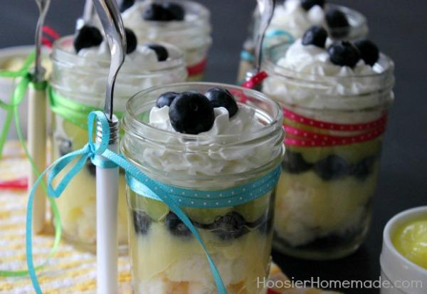 Lemon Blueberry Angel Food Cake