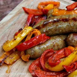 Grilled Peppers and Italian Sausage