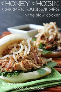 Honey Hoisin Chicken Sandwiches in the Slow Cooker