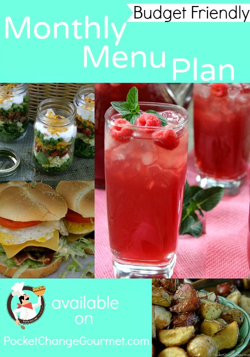 Budget Friendly Monthly Menu Plan :: Available on PocketChangeGourmet.com