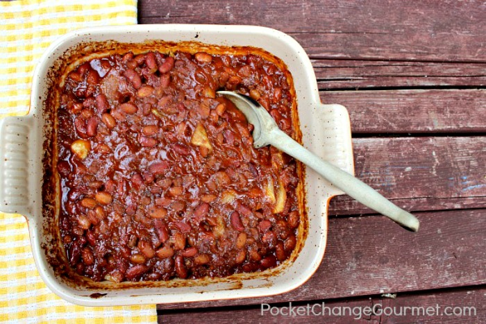Sweet and Spice Baked Beans | Recipe on PocketChangeGourmet.com