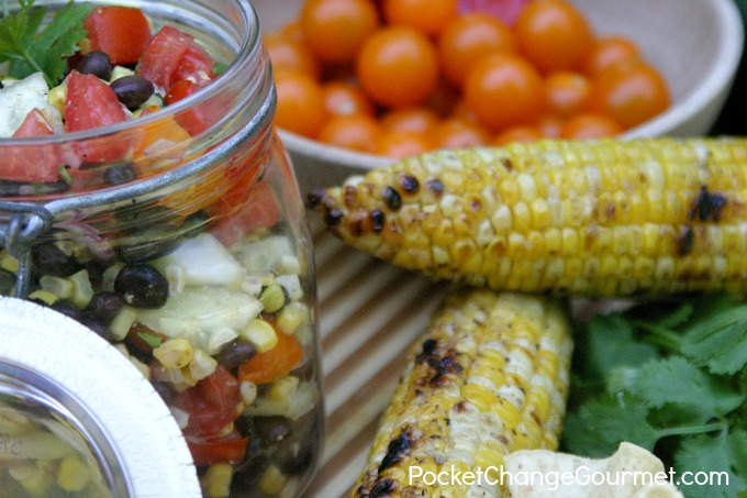 Black Bean Corn Salsa :: Recipe on PocketChangeGourmet.com