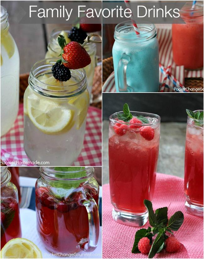 Famiy Favorite Drinks | on PocketChangeGourmet.com