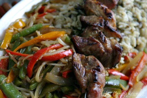 Asian Pork Kabobs :: Recipe on PocketChangeGourmet.com